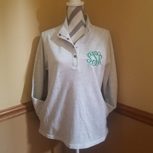 snap up pullover with pockets