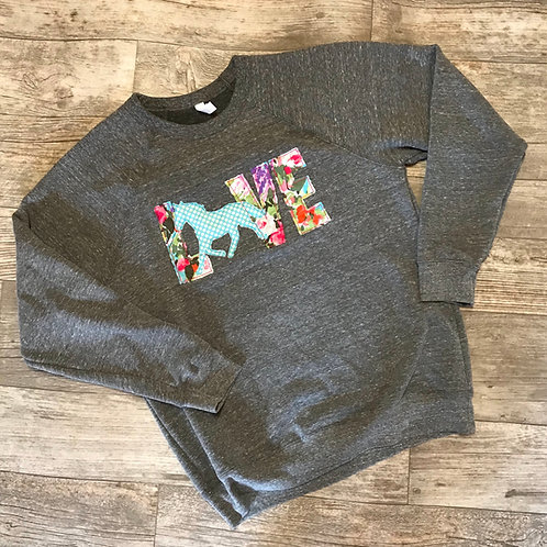 Youth Love Horses Crewneck