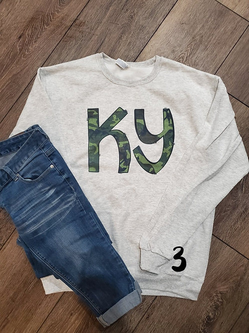 Ky Crewnecks (sublimation ) (plus sizes)