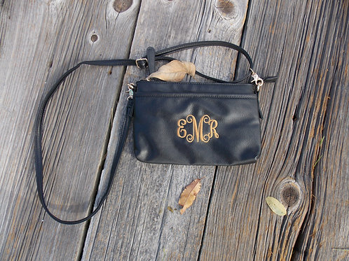 Black Monogram Cross Body Bag