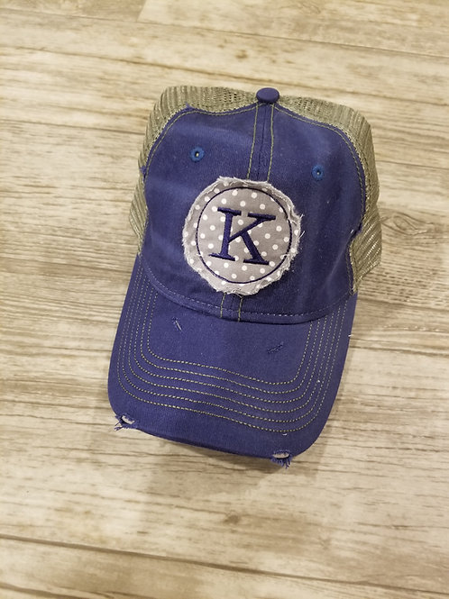 K ragged patch truck hat