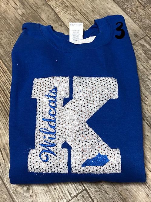 Sparkle K Crewneck (plus sizes)