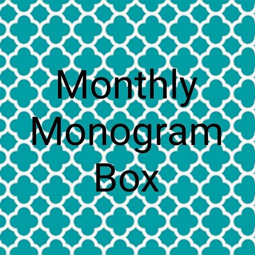 Monthly Monogram Box