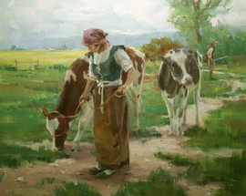 Leading the Cows