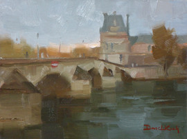 """SOLD """"The Lourve From Pont Royal"""""""