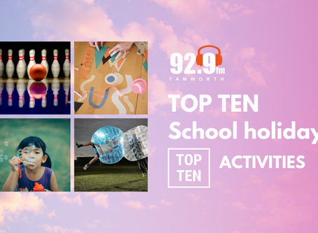 Top Ten School Holiday Activities in Tamworth and Surrounds