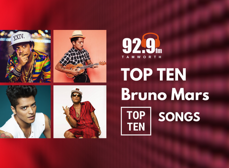 Top Ten Bruno Mars Songs