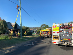 Firefighters leap into action after reports of a house fire