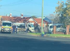 Two men injured in a truck crash, East Tamworth