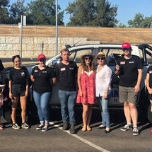 92.9's group at the Tamworth Country Music Festival Cavalcade thanks to Kennards Hire.