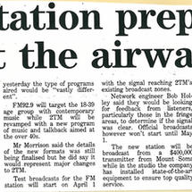Tamworth's first commercial FM station prepares to hit the airwaves   NDL - 5th May 1993
