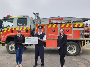 $5000 donated to Tamworth Rural Fire Service