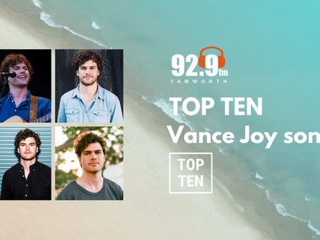 Top Ten Vance Joy Songs