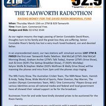 Details of the 92.9fm Radiothon