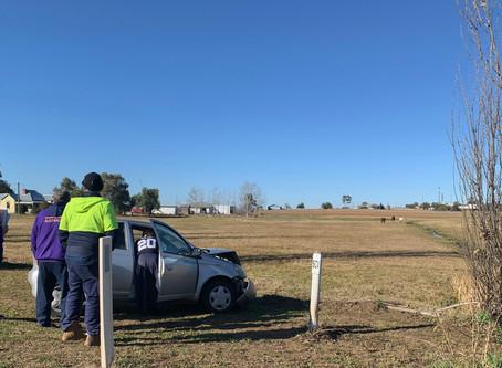 Three car pile-up backs up Calala Lane