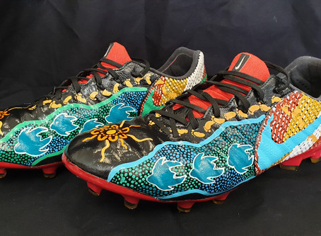 Painted NRL boots bring social benefits to Indigenous youth