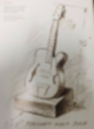 Golden Guitar Drawing