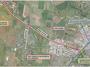 Work on the Tamworth Intermodal Rail Line gets underway