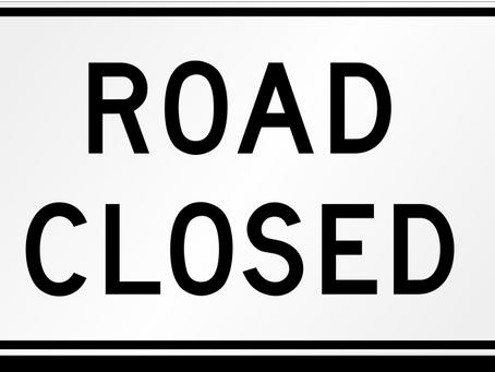 Road Closures around the region