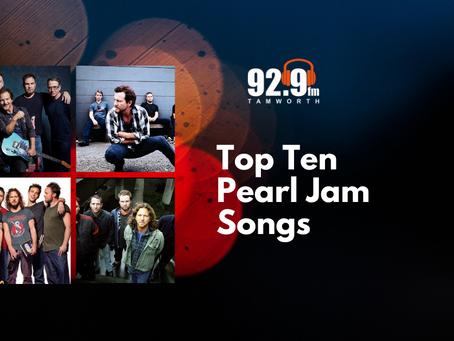 Top Ten Pearl Jam Songs