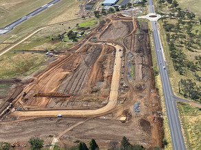 Armidale Regional Business Park taking shape as construction continues