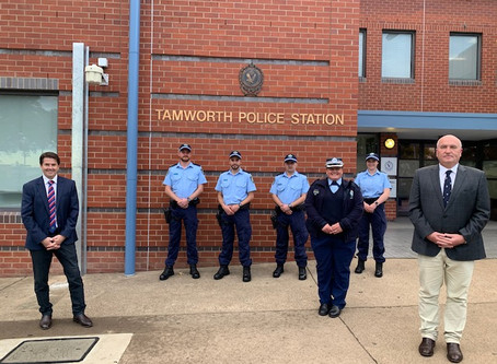 Four new recruits join Tamworth Police Station