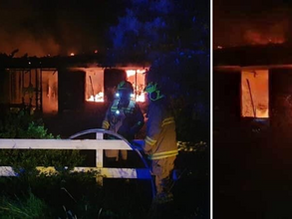 House engulfed in a fiery blaze for the second time