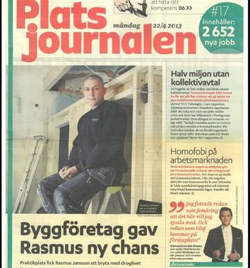 Ur Platsjournalen, 22/4 2013