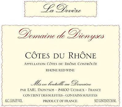 Domaine de Dionysos - CDR La Deveze NV.j