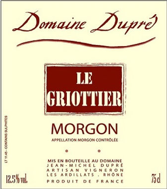 Morgon Le Griotter JM DUPRE - NV.jpg