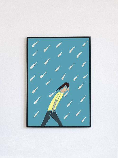 British Summer Time (Rain) print