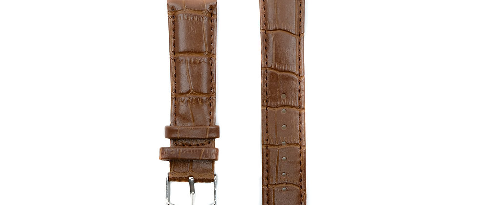 Classic brown leather strap