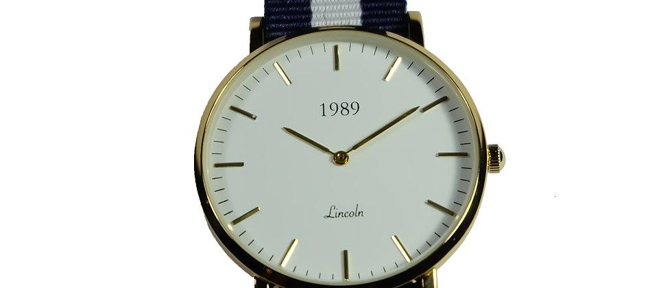 Lincoln - Gold - Blue Navy nylon