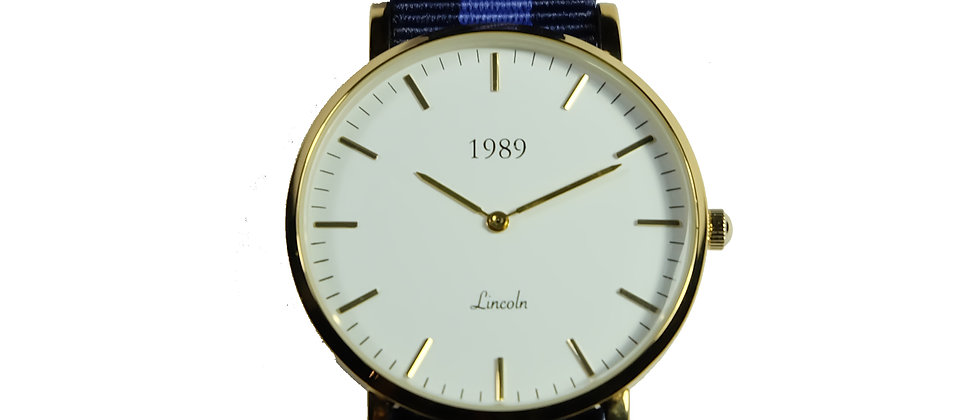 Lincoln - Gold - Deep Blue nylon