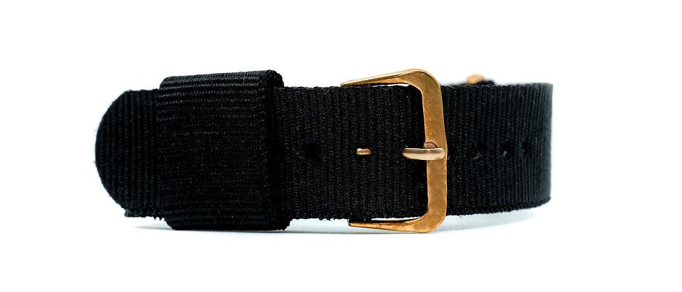 Triple Black nylon strap