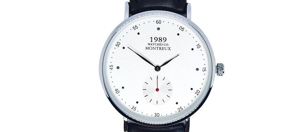 Montreux - Silver - Premium Black leather