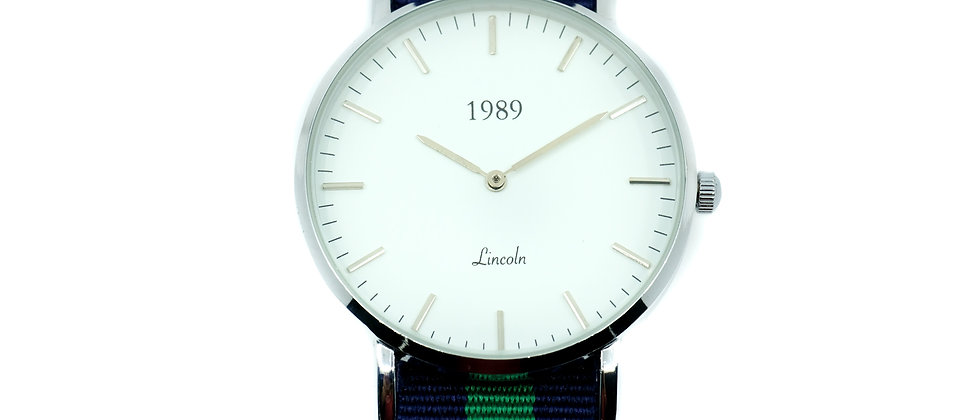 Lincoln - Silver - Green Kelly nylon
