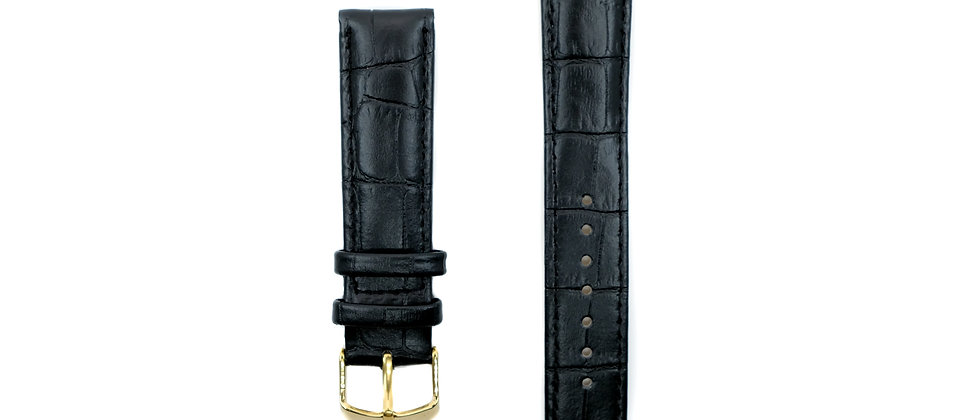 Classic black leather strap