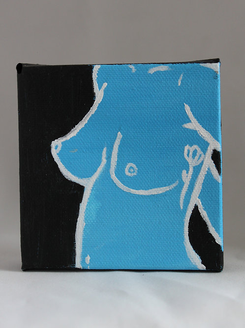flat color nude painting (custom)