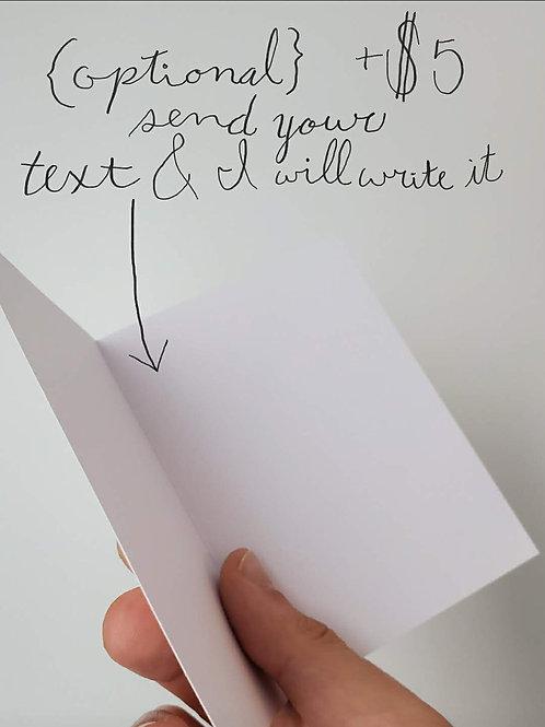 custom card message