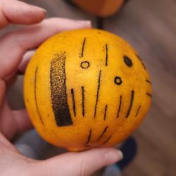 Hand poke orange practice (1)