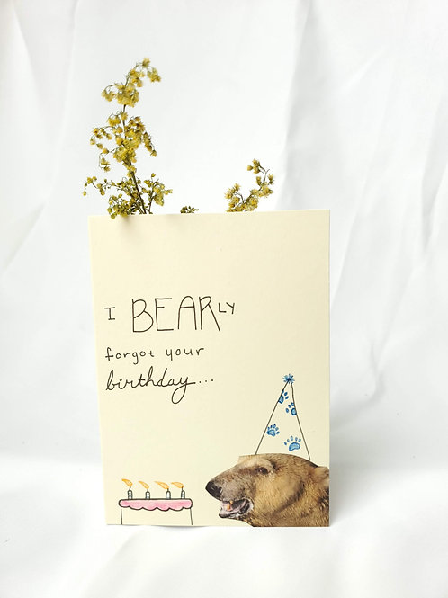 bearly forgot your birthday card