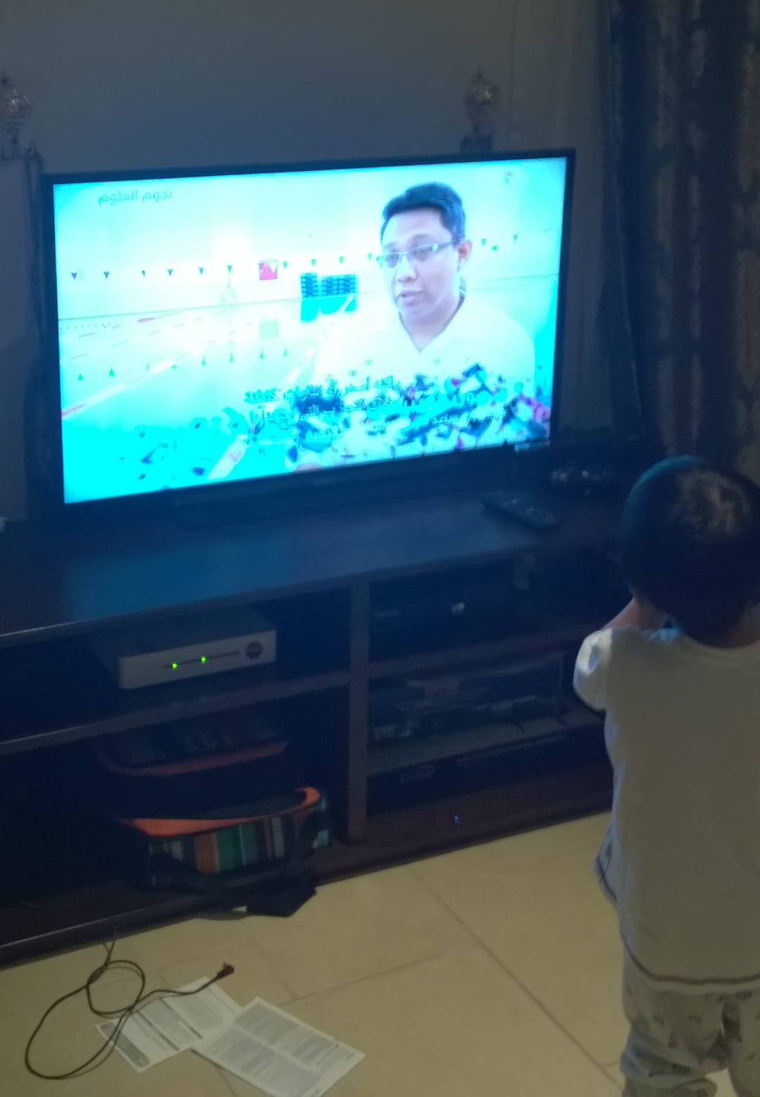 """My daddy is on TV!"""