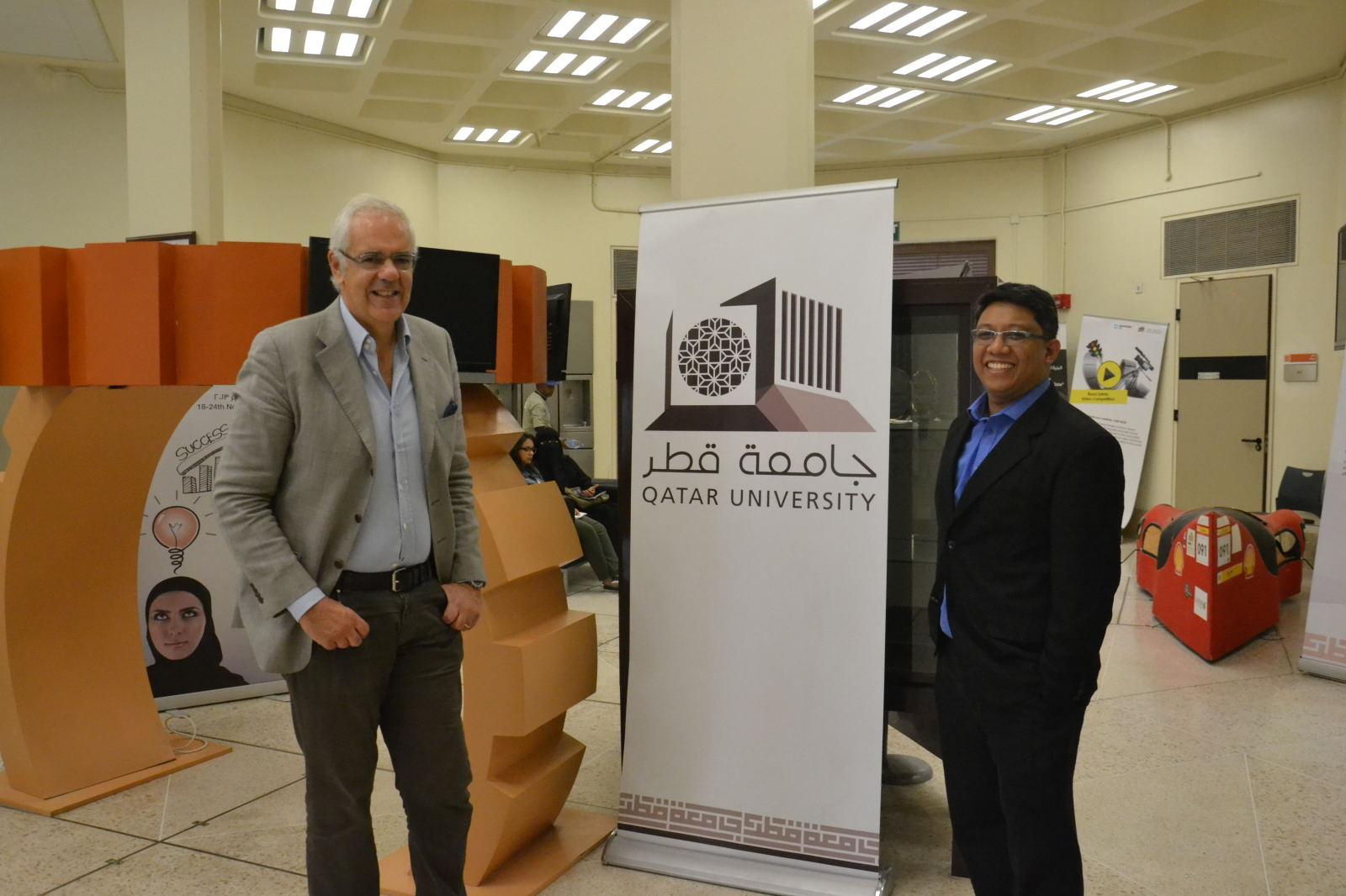 Professor Bruno Siciliano's 2014 QU visit