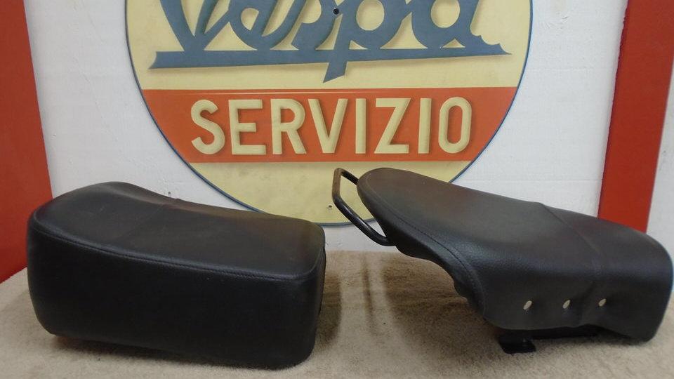Vintage Vespa single seat and rear buddy seat