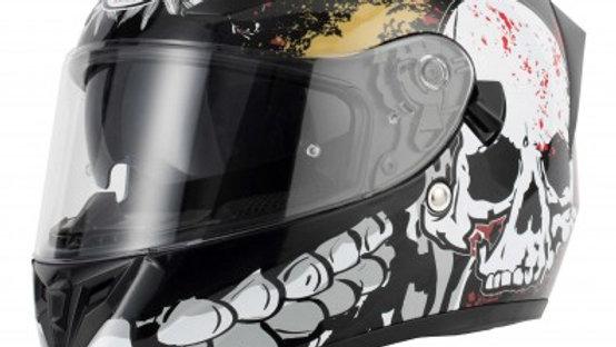 V Can full face helmet, Skull , (Extra large) 61cm