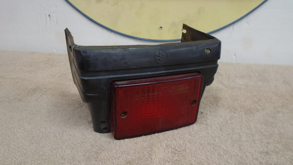 1980s Vespa Rear bumper with tail light, Fits PX