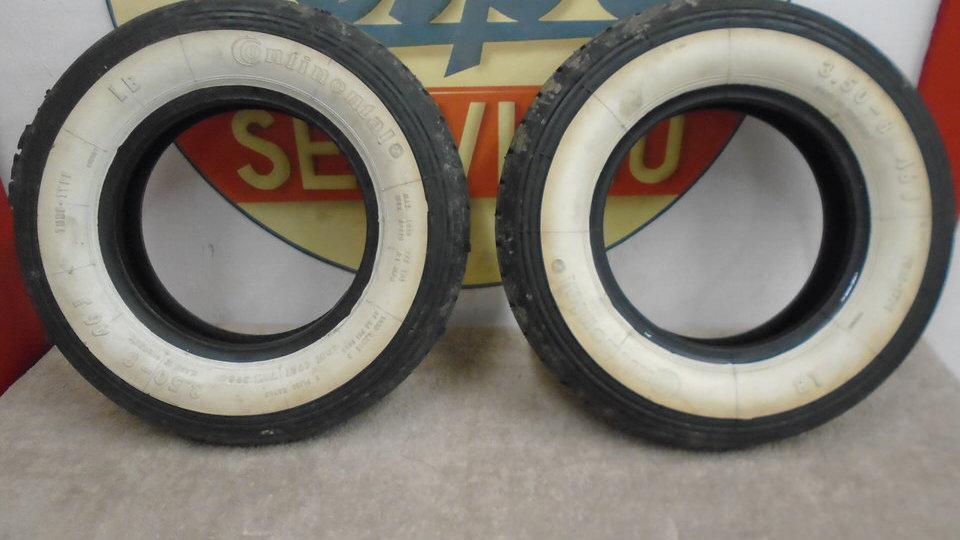 350x8 contenintal white wall tyres