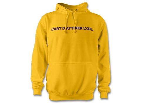 Sweat A.T Design à capuche jaune