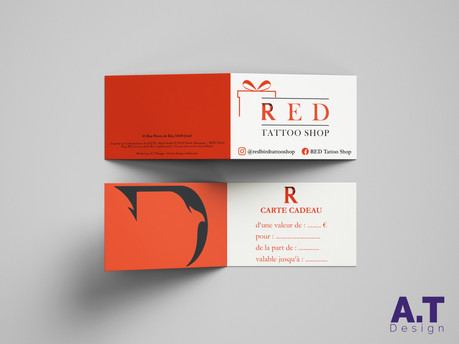 Cartes RED Tattoo Shop